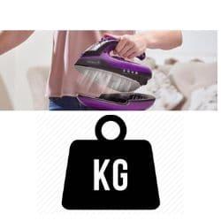 weight of wireless iron