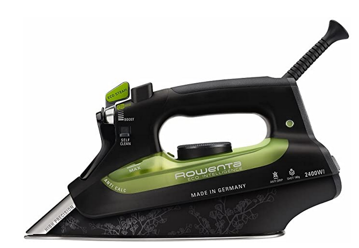 Rowenta Eco Focus Steam Iron DW6010 - Black and Green